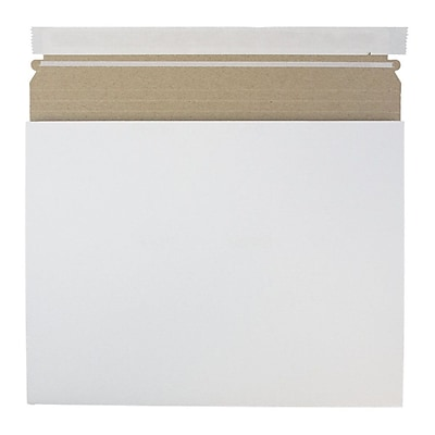JAM Paper Expandable Photo Mailer 12.25 x 9.5 x 1 White Sold Individually 28906706
