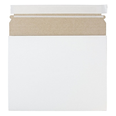 JAM Paper Expandable Photo Mailer 10 x 7.75 x 1 White Sold Individually 18906705