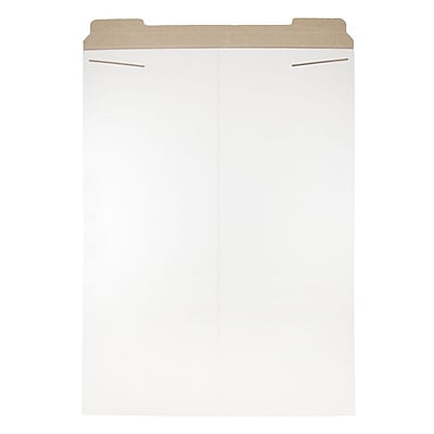 JAM Paper Photo Mailer Stiff Envelopes with Tuck Flap Closure 20 x 27 White Sold Individually 1453476