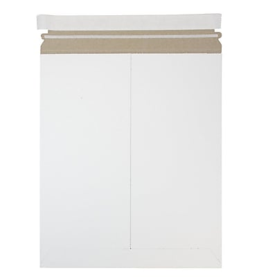 JAM Paper Photo Mailer Stiff Envelopes with Self Adhesive Closure 11 x 13.5 White Recycled Sold Individually 3PSW
