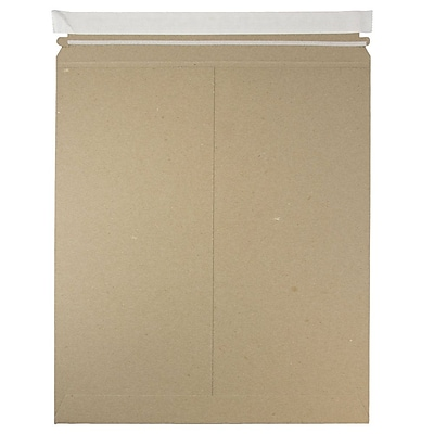 JAM Paper Photo Mailer Stiff Envelopes Self Adhesive Closure 12.75 x 15 Brown Kraft Recycled Sold Individually 8866645