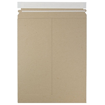 JAM Paper Photo Mailer Stiff Envelopes Self Adhesive Closure 9.75 x 12.25 Brown Kraft Recycled Sold Individually 8866642
