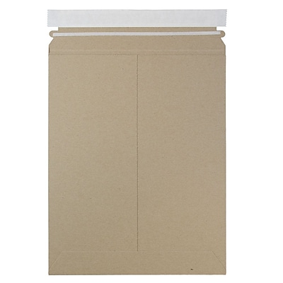 JAM Paper Photo Mailer Stiff Envelopes with Self Adhesive Closure 9 x 11.5 Brown Kraft Recycled Sold Individually 8866643