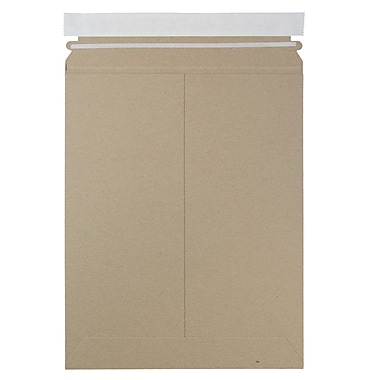 JAM Paper® Photo Mailer Stiff Envelopes with Self Adhesive Closure, 9 x 11.5, Brown Kraft Recycled, Sold Individually (8866643)