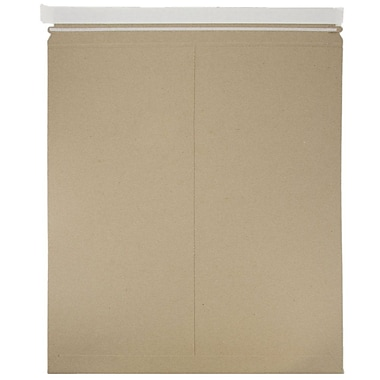 JAM Paper® Photo Mailer Stiff Envelopes with Self Adhesive Closure, 17 x 21, Brown Kraft Recycled, Sold Individually (8866647)