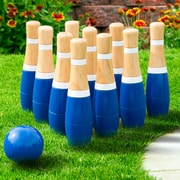 Hey! Play! 8 Inch Wooden Lawn Bowling Set (80-LB8)