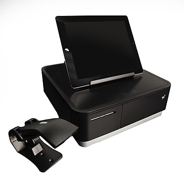 Star Micronics mPOP™ with Scanner, Integrated Printer & Cash Drawer, Universal Tablet Stand, Internal Power Supply, Black