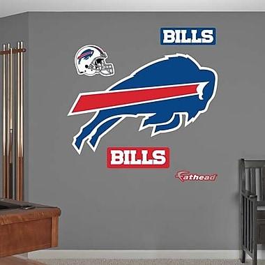 Fathead 14-14265 Wall Decal, NFL Buffalo Bills Big Logo, 5-Piece