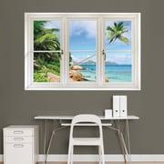 Fathead 69-00338 Wall Decal, Tropical Beach, Seychelles Instant Window