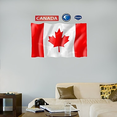 Fathead 99-99081 Wall Decal, Canadian Flag-Logo Size
