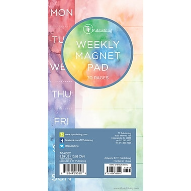 TF Publishing Tie-Dye 70 Page Magnetic List Pad, 4