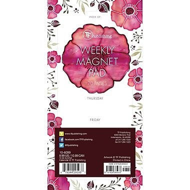TF Publishing Poppies 70 Page Magnetic List Pad, 4