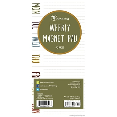 TF Publishing Earth Days 70 Page Magnetic List Pad, 4