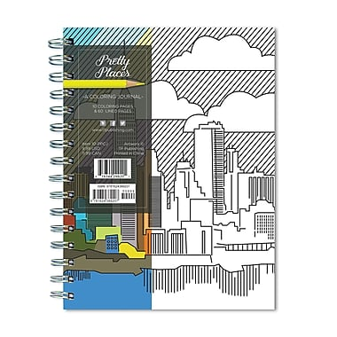 TF Publishing Pretty Places 140 Page Colouring Journal, 6.375