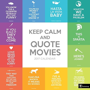 TF Publishing 2017 Keep Calm and Quote Movies Wall Calendar, 12