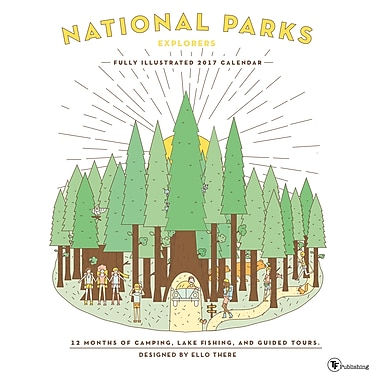 TF Publishing 2017 Illustrated National Parks Calendar, 12
