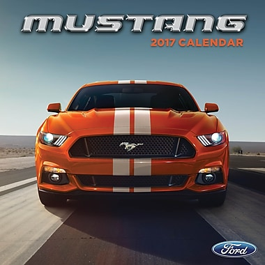 TF Publishing – Calendrier mural 2017, Mustang, 12 x 12 po