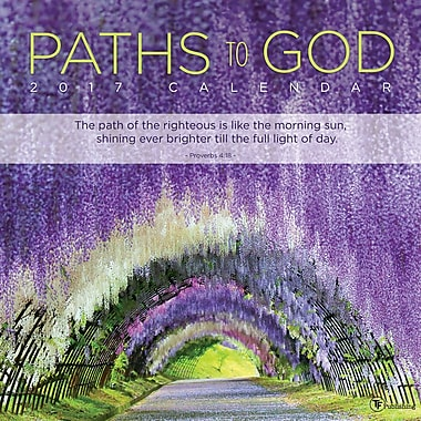 TF Publishing 2017 Paths to God Wall Calendar, 12