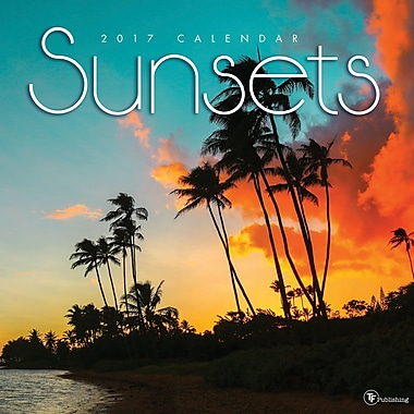 TF Publishing 2017 Sunsets Wall Calendar, 12