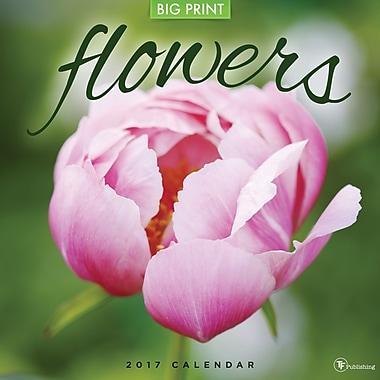 TF Publishing 2017 Flowers Wall Calendar, 12