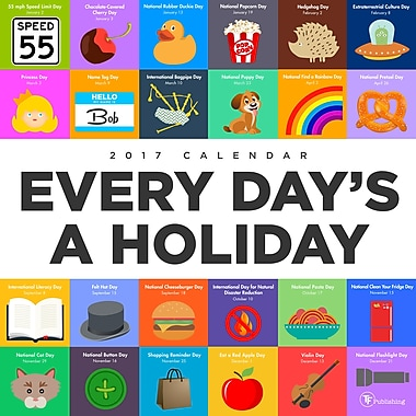 TF Publishing 2017 Every Days A Holiday Wall Calendar, 12