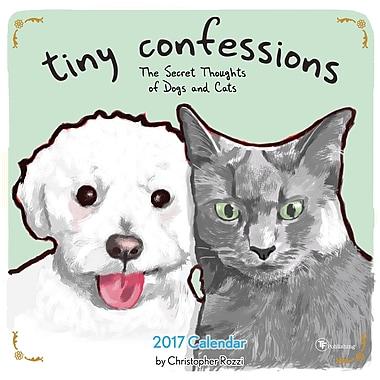 TF Publishing – Calendrier mural 2017, Petites confessions, 12 x 12 po