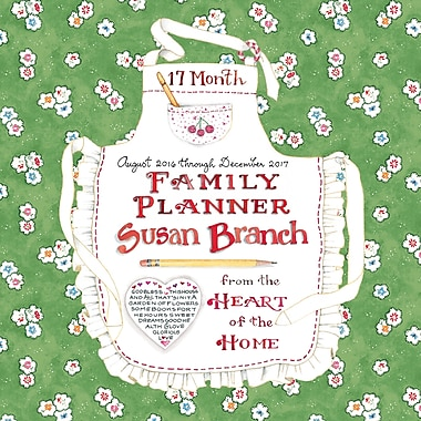 TF Publishing 2017 Susan Branch Family Planner 17 Month Wall Calendar, 12