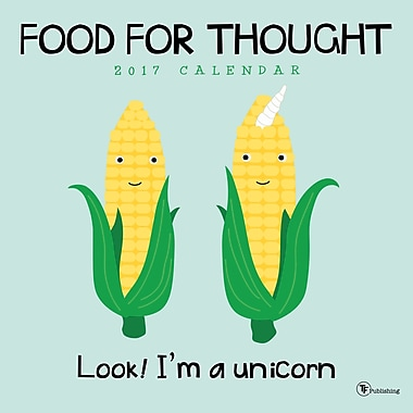 TF Publishing 2017 Food for Thought Wall Calendar, 12