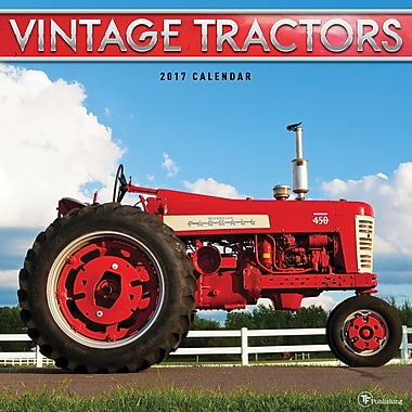 TF Publishing 2017 Vintage Tractors Wall Calendar, 12