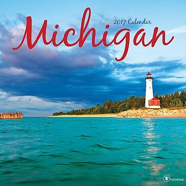 TF Publishing 2017 Michigan Wall Calendar, 12