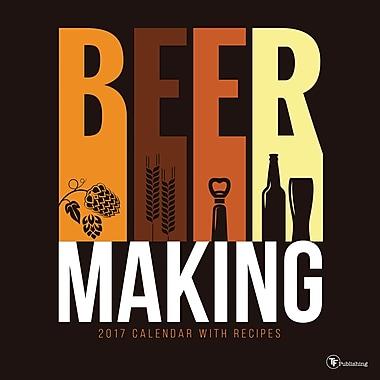 TF Publishing – Calendrier mural 2017, Fabrication de la bière, 12 x 12 po