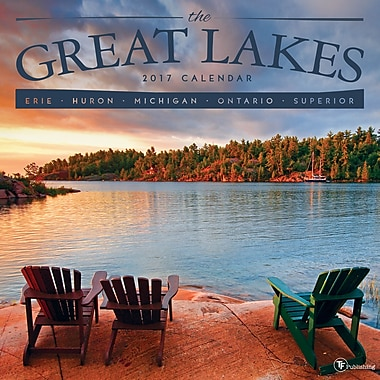 TF Publishing 2017 Great Lakes Wall Calendar, 12