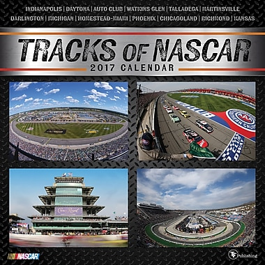 TF Publishing 2017 Tracks of NASCAR Wall Calendar, 12