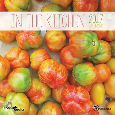 TF Publishing – Calendrier mural 2017, Dans la cuisine, 7 x 7 po