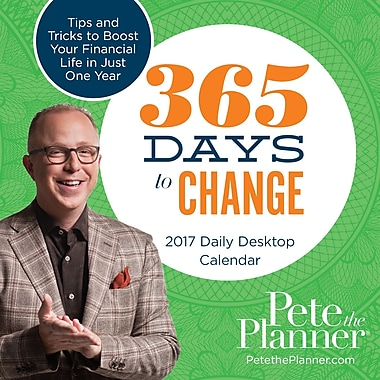 TF Publishing 2017 365 Days to Change Pete the Planner Daily Desktop Calendar
