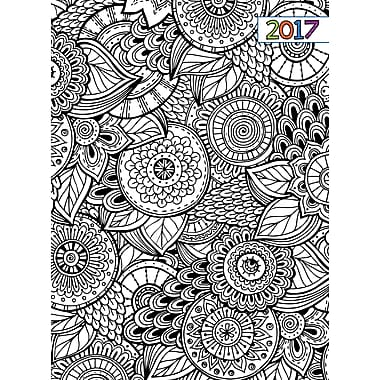 TF Publishing – Planificateur mensuel 2017, 12 mois, épuré, Colorie-moi
