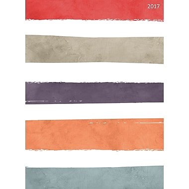TF Publishing 2017 Soothing Stripes 12 Month Simplicity Planner