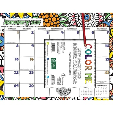 TF Publishing 2017 Colour Me Smart Binder Calendar, 11