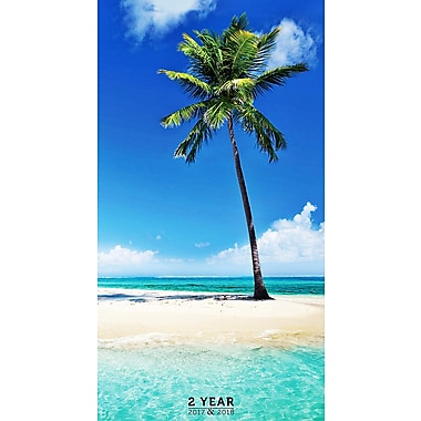 TF Publishing 2017-2018 Tropical Beaches 2 Year Pocket Calendar