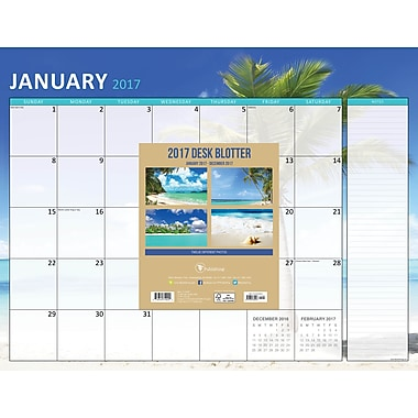 TF Publishing 2017 Tropical Beaches 12 Month Desk Blotter, 22