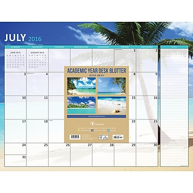 TF Publishing 2017 Academic Year Tropical Beaches Desk Blotter, 22