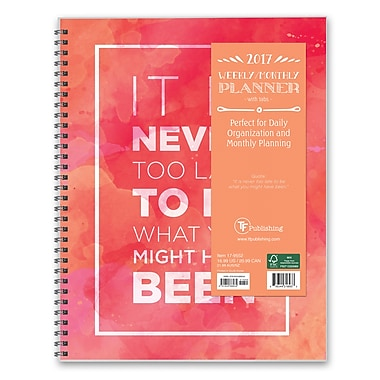 TF Publishing 2017 Never Too Late 12 Month Perfect Planner