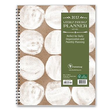 TF Publishing 2017 Stamped Spots 12 Month Perfect Planner