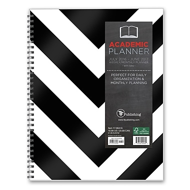 TF Publishing 2017 Academic Year Classic Chevron Perfect Planner