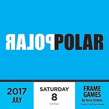 TF Publishing 2017 Frame Games Daily Desktop Calendar