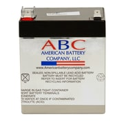 "ABC RBC45 UPS Battery Replacement, 3.9"" x 2.93"" x 4.4"", Black"