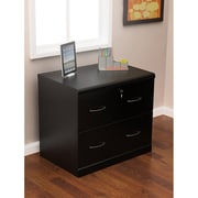 Z-Line Designs 2-Drawer Wood Lateral File Cabinet, Black, Letter/Legal (ZL2263-2BLU)