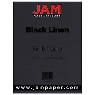 JAM Paper® Matte Paper, 8.5 x 11, 32lb Black Linen Recycled, 50/pack (11130)