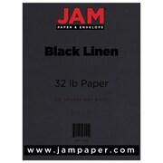"""JAM Paper® 32 lb. 8 1/2"""" x 11"""" Linen Paper, Black, 50 Sheets/Pack"""