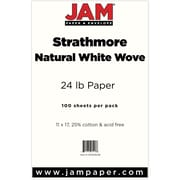 "Jam® 24 lbs. Wove Paper, 11"" x 17"", Natural White, 100/Pack"
